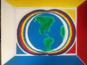 Love peace and harmony earth family
