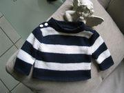Pullover blau weiß