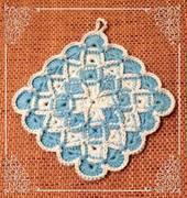 Topflappen Bavarian Stitch 1