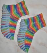 bunte Kinder-Socken mit Biesen