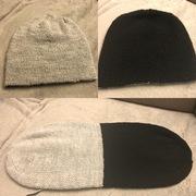 Doppelte gestrickte Mütze