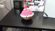 Nadelkissen Erdbeer-Muffin