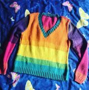 Regenbogen-Pullover Roller-Disco