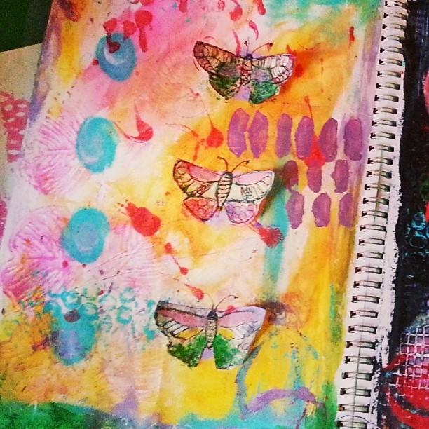 Butterflies journal page