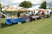 Stalls ready for business