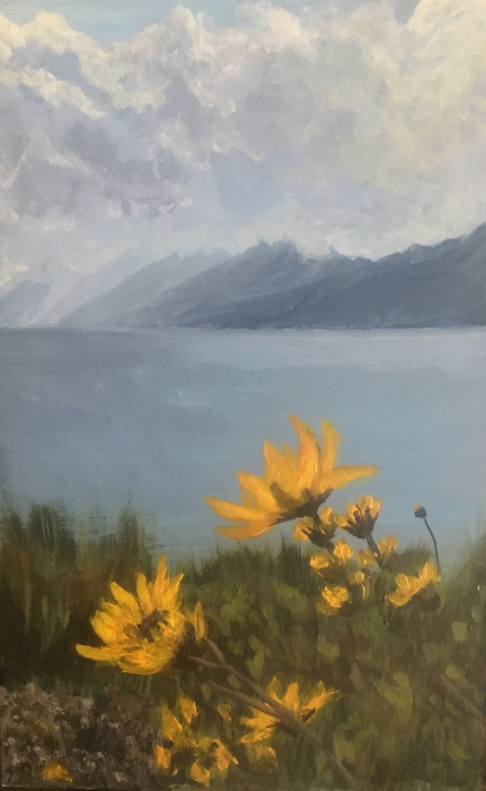 Daisies in the Tetons