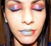 Spring Rainbow Makeup look