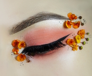 Tangerine and melon orange eyes