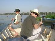 Pescando com papai!