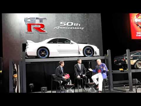 Nissan Press Conference With Race Driver Pete Brock and GT R Executive