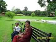 AT RAMNAGAR WITH MOM
