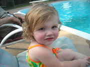 Mallory hanging out by the pool June 2010