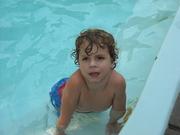 Mason enjoying the pool