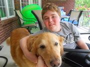 Tony McCrea and his dog, Cooper