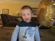 TJ loves balloons