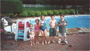 Anthony, Matt, Meghan, and Cousins at Grandpa's Pool
