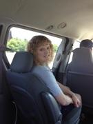 Lisa on the way to Pensacola beach.