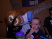 Carter too busy eating to even notice Alice