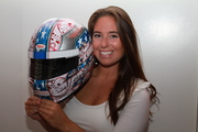 Shea Holbrook with her Racing Helmet