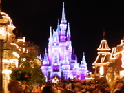 Waiting in the Magic Kingdom on Main St. to cheer on Brian Denger in the marathon.