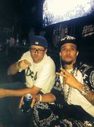 Diar Lansky backstage with Bizzy Bone Choppin it up