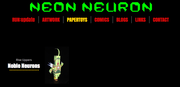 Neon Neuron Papertoy Page