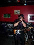 Aaron blowin' the blues harp