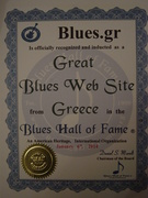 Blues.gr at Blues Hall of Fame ®  Great Blues Web Site, Greece © Created by Yannis Rousochatzakis.