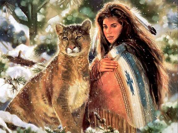 Indian Princess-Mountain Lion