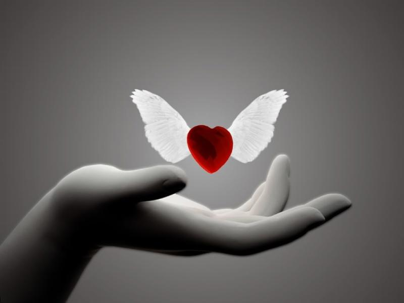 Setting the heart free to fly