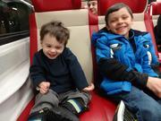 Evan and friend enjoying ride