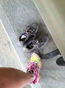 Camrose Trail Race Muddy Runners & New ones Bought at the Silver Star Race