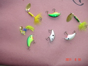 Crankbaits and Spinners that have caught fish lately in Carolina.