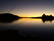 patagonia lake fishing sunset