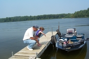Cheyenne and I on Long Lake on the Coldwater Chain in Mi.