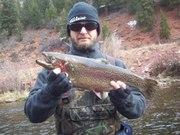 One of three 10lb. spawning rainbows