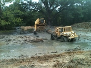 getting rid of the old mud hole
