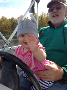 At the helm with Uncle Tom!