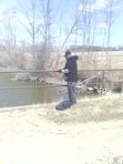 at the bridge fishing