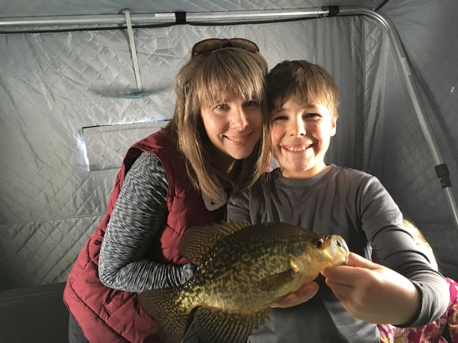 """My wife and Son showing off a 12""""er!"""