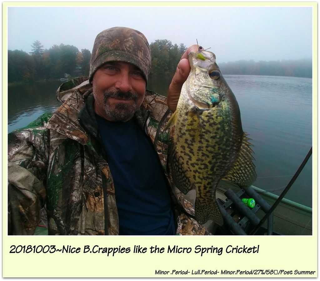 20181003~Nice B.Crappies like the Micro Spring Cricket!