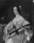 Scottish guitar lady, c.1820