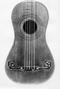 18th Century French Guitar. Ex Challen Collection
