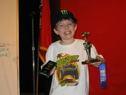 Noah w trophy hummer and smile 3rd place