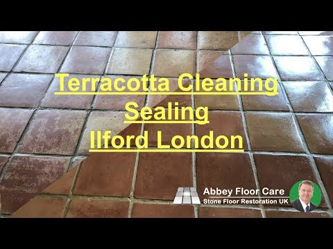 Terracotta Cleaning Sealing Ilford London - Abbey Floor Care