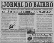 JORNAL DO BAIRRO - ANTONIO CABRAL FILHO , EDITOR - RJ