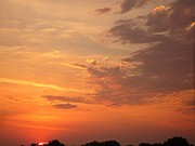 Sunset skies.