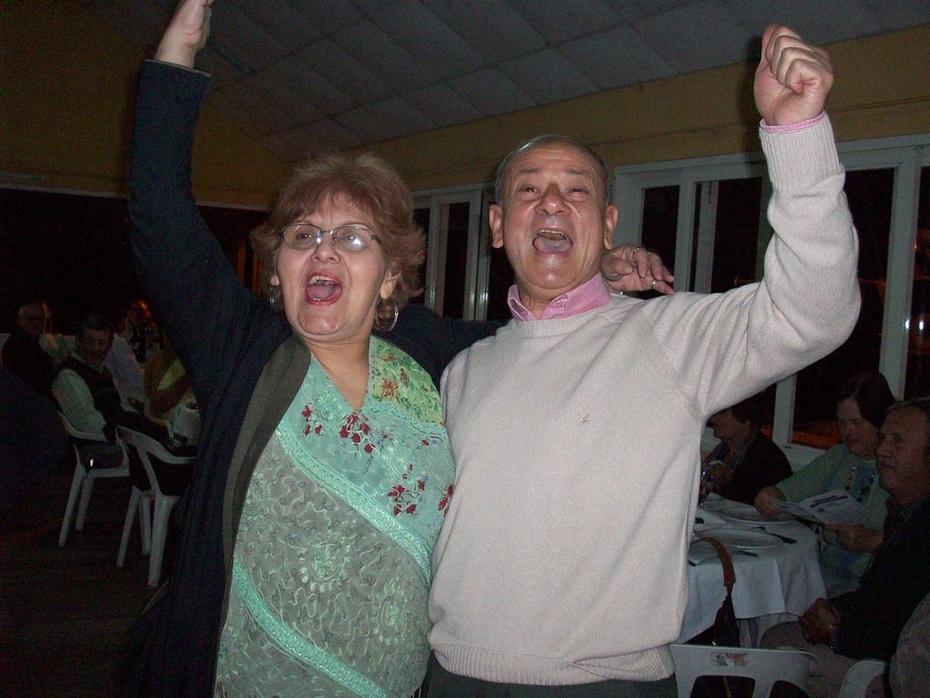Pety de Santiago y Alfredo, mi esposo