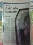 CUENTO DE MI AUTORIA DENOMINADO EL DIFUNTO RENUENTE PUBLICADO EN SUPLEMENTO DOMINICAL DEL DIARIO PANAMA AMERICA