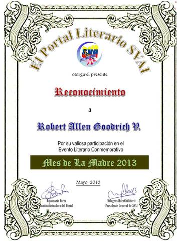 RobertAllenGoodrichV Mes de la Madre SVAI 2013